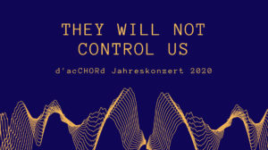They will not control us @ Friedrich-Wilhelm-Gymnasium